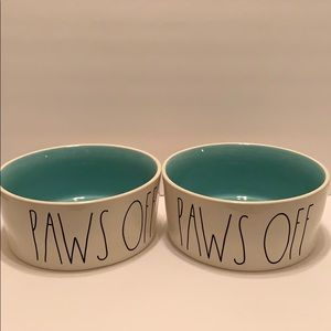 Rae Dunn Dog Super Large Bowls PAWS OFF
